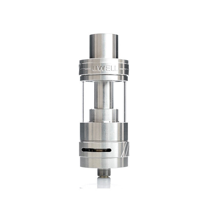 Uwell Crown II Tank, stainless. The Village Vaporette.