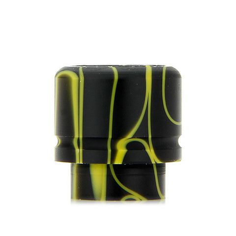 Czar American Made TFV8 Drip Tips, black/yellow. The Village Vaporette.