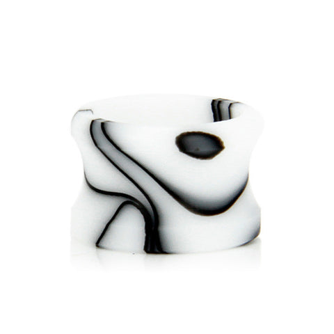 Czar American Made Drip Tips for Aspire Cleito tank, white/black. The Village Vaporette.