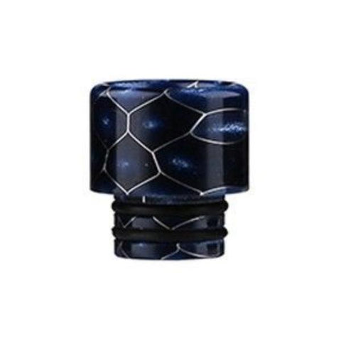 Demon Killer Cobra Resin Drip Tips, 510 style, Blue. The Village Vaporette, Cambridge, Ontario, Canada, snakeskin, 810, 510, double o-rings,