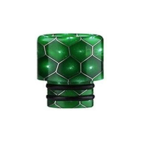 Demon Killer Cobra Resin Drip Tips, 510 style, Green. The Village Vaporette, Cambridge, Ontario, Canada, snakeskin, 810, 510, double o-rings,