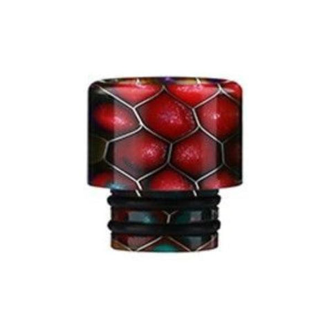 Demon Killer Cobra Resin Drip Tips, 510 style, Red. The Village Vaporette, Cambridge, Ontario, Canada, snakeskin, 810, 510, double o-rings,