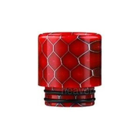 Demon Killer Cobra Resin Drip Tips, 810 style, Red. The Village Vaporette, Cambridge, Ontario, Canada, snakeskin, 810, 510, double o-rings,