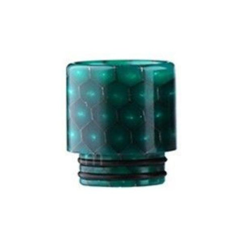 Demon Killer Cobra Resin Drip Tips, 810 style, Teal. The Village Vaporette, Cambridge, Ontario, Canada, snakeskin, 810, 510, double o-rings,