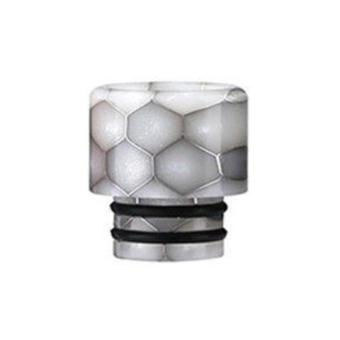 Demon Killer Cobra Resin Drip Tips, 510 style, White. The Village Vaporette, Cambridge, Ontario, Canada, snakeskin, 810, 510, double o-rings,
