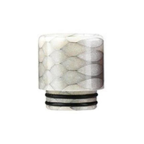 Demon Killer Cobra Resin Drip Tips, 810 style, White. The Village Vaporette, Cambridge, Ontario, Canada, snakeskin, 810, 510, double o-rings,