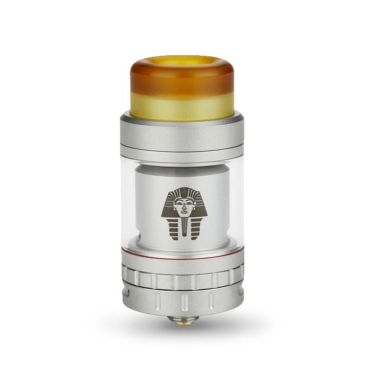 Digiflavor PHARAOH MINI 24mm RTA by RiP Trippers, silver. The Village Vaporette.