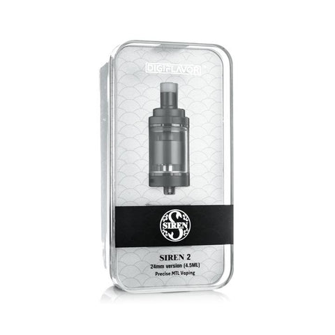 Digiflavor Siren 2 MTL RTA, packaging. The Village Vaporette.