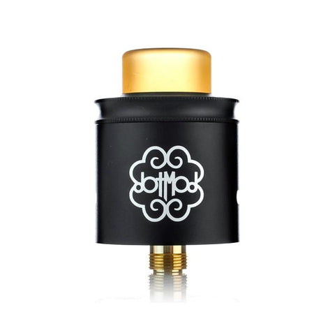 dotmod dotRDA, black, cap on. The Village Vaporette.