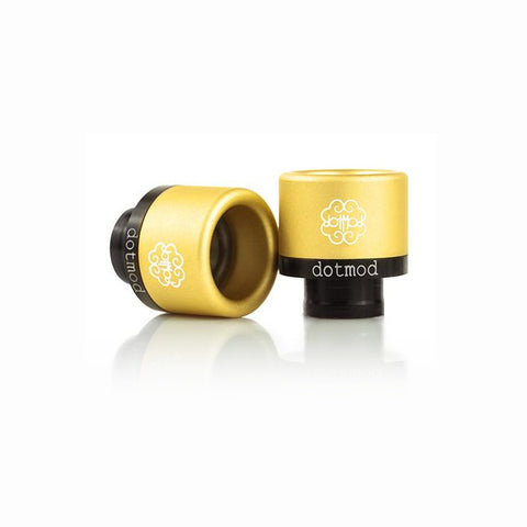 dotmod Friction-Fit drip tips, gold. The Village Vaporette.