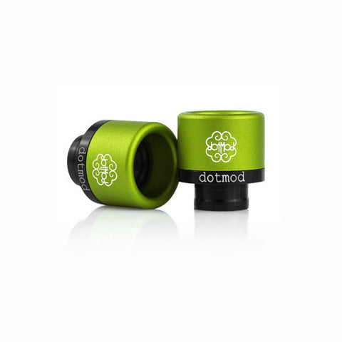 dotmod Friction-Fit drip tips, green lime. The Village Vaporette.