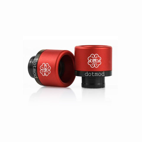 dotmod Friction-Fit drip tips, red. The Village Vaporette.