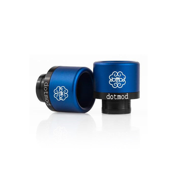 dotmod Friction-Fit drip tips, royal blue. The Village Vaporette.