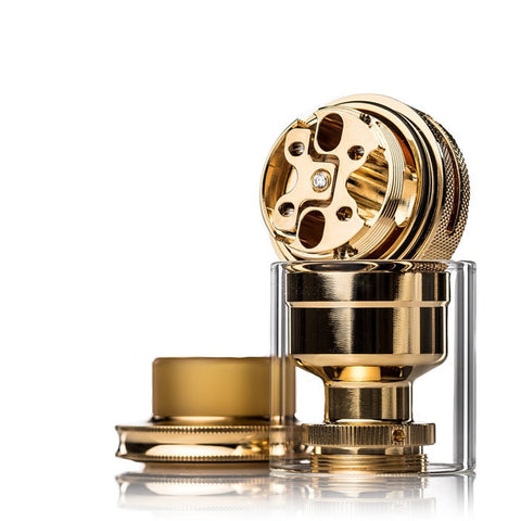 dotmod 24mm PETRI 24K Gold RTA with Cubic Zirconia
