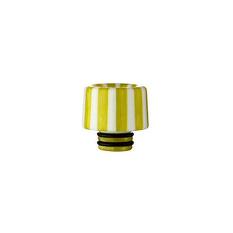Epoxy Resin Stripe Drip Tips, 510 Green & White Stripe. The Village Vaporette, Cambridge, Ontario, Canada, striped, stripes, 810, 510, vape drip tip, mouthpiece, double o-rings,