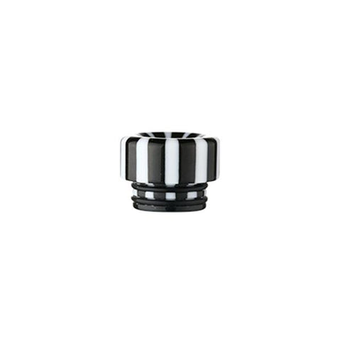 Epoxy Resin Stripe Drip Tips, 810 Black & White Stripe. The Village Vaporette, Cambridge, Ontario, Canada, striped, stripes, 810, 510, vape drip tip, mouthpiece, double o-rings,