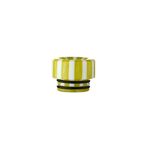 Epoxy Resin Stripe Drip Tips, 810 Green & White Stripe. The Village Vaporette, Cambridge, Ontario, Canada, striped, stripes, 810, 510, vape drip tip, mouthpiece, double o-rings,