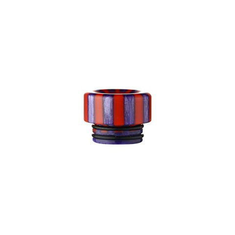 Epoxy Resin Stripe Drip Tips, 810 Red & Purple Stripe. The Village Vaporette, Cambridge, Ontario, Canada, striped, stripes, 810, 510, vape drip tip, mouthpiece, double o-rings,