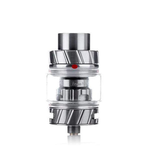 Freemax Fireluke 2 (coil) Tank, stainless steel. The Village Vaporette, Cambridge, Ontario, Canada, metal, updated version, great flavor, 360 degree e-liquid feeding, 90% tea fiber cotton