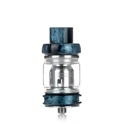 Freemax Fireluke Mesh Pro 6mL Tank, blue. The Village Vaporette, Cambridge, Ontario, Canada, resin, bubble glass, dual coil, mesh coil, 25mm,