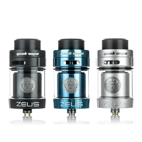 Geekvape Zeus Dual RTA, all colours. The Village Vaporette.