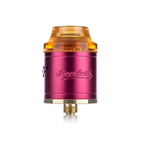 Peerless RDA by Geekvape, magenta. The Village Vaporette.