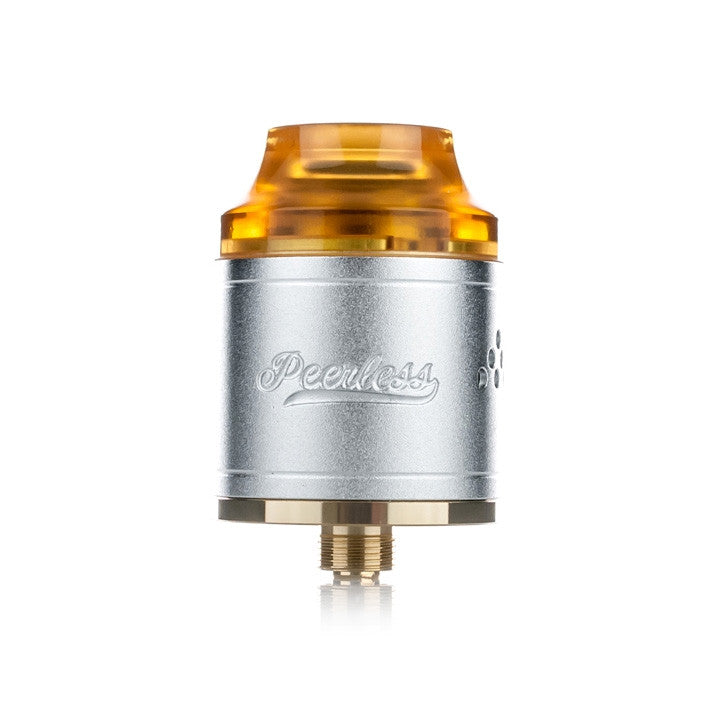 Peerless RDA by Geekvape, silver. The Village Vaporette.