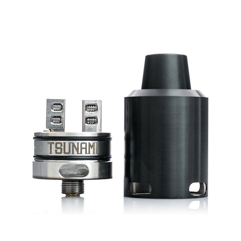 Geekvape Tsunami 24mm RDA, black. The Village Vaporette.