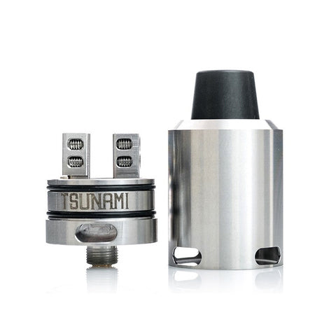 Geekvape Tsunami 24mm RDA, stainless. The Village Vaporette.