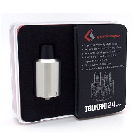 Geekvape Tsunami 24mm RDA. The Village Vaporette.