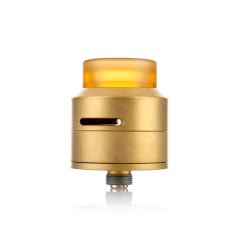 Goon Low Profile RDA by 528 Customs, gold. The Village Vaporette.