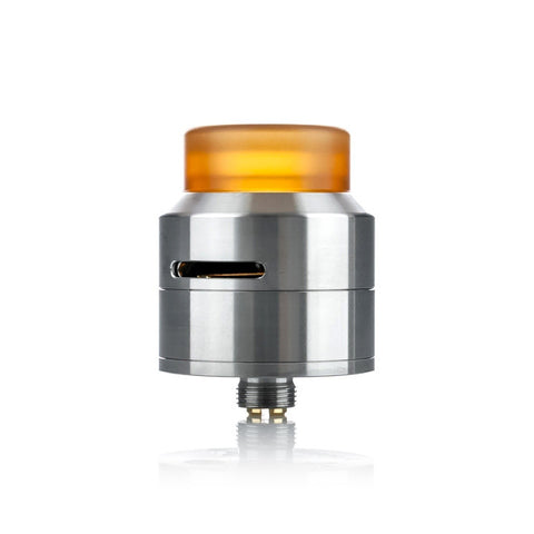 Goon Low Profile RDA by 528 Customs, stainless steel. The Village Vaporette.