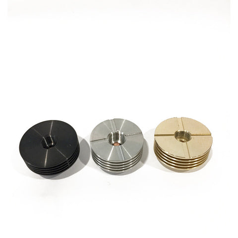 24mm heat sinks, black, ss, brass.