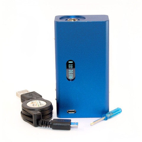 Cana DNA30 mod, blue, package contents.The Village Vaporette.