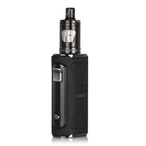 Innokin ADEPT Starter Kit, Black. The Village Vaporette, Cambridge, Ontario, Canada, mouth to lung vape, starter vape kit, low wattage, internal battery,