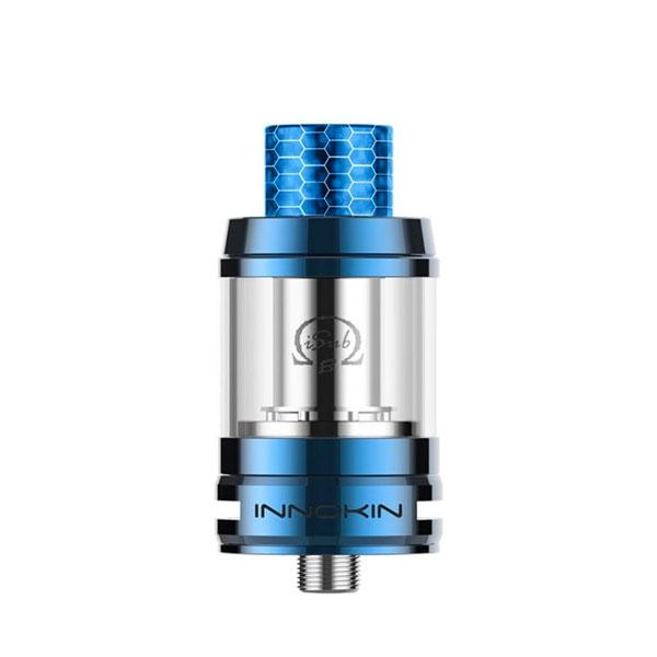 Innokin iSub B Sub-ohm Tank, Blue. The Village Vaporette, Cambridge, Ontario, Canada, cheap tank, coil tank, mesh coils, top fill, 3mL, vape tank,