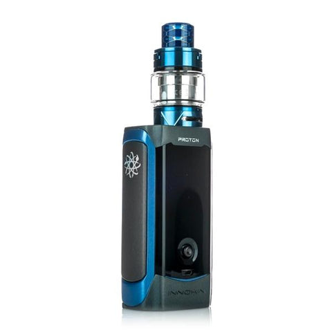 Innokin Proton Plexus Kit, blue. The Village Vaporette, vape kit, plex tank, joystick, 235W, box mod,