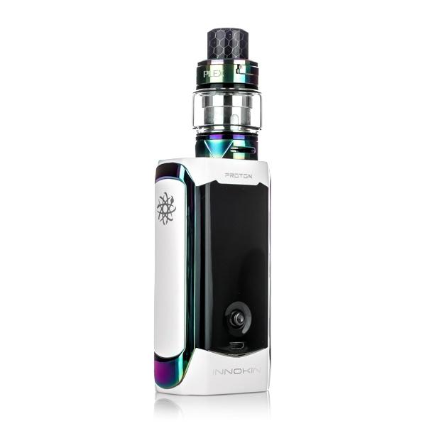 Innokin Proton Plexus Kit, white. The Village Vaporette, vape kit, plex tank, joystick, 235W, box mod,