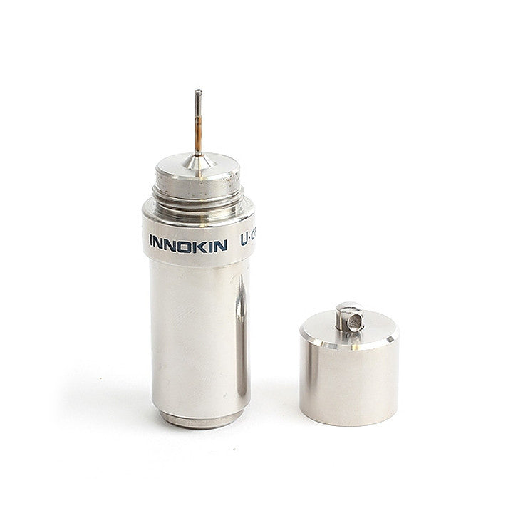 Innokin U-Can V2 10mL refill bottle, stainless steel. The Village Vaporette.