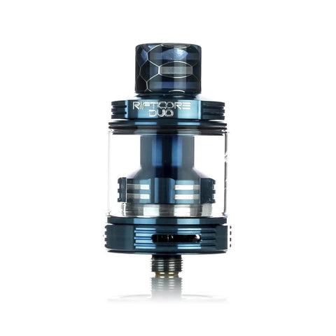 Joyetech Riftcore Duo RTA, blue. The Village Vaporette Cambridge Ontario Canada.