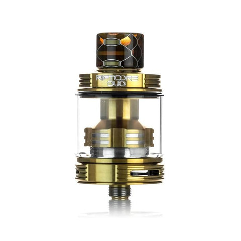Joyetech Riftcore Duo RTA, gold. The Village Vaporette Cambridge Ontario Canada.