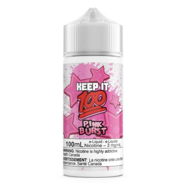 Pink Burst by Keep It 100. The Village Vaporette, Cambridge, Ontario, Canada, vape juice,