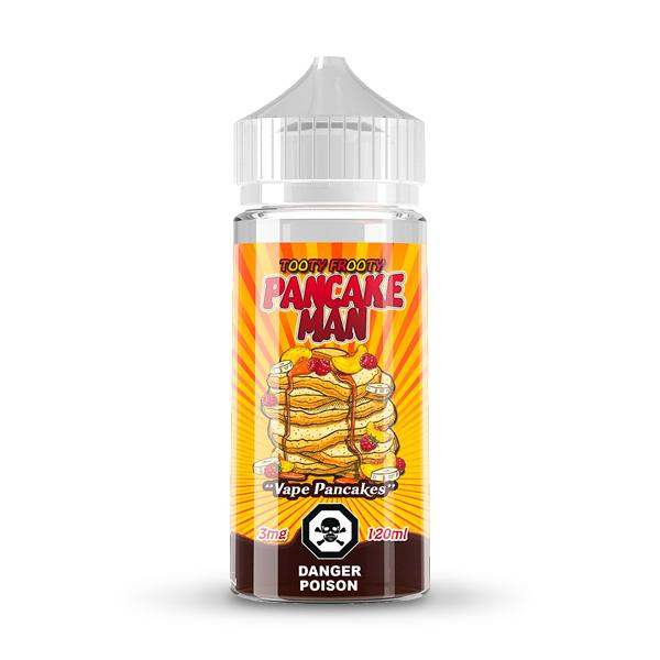 Liquid E Tooty Frooty Pancake Man, 120mL. The Village Vaporette, Cambridge, Ontario, Canada, breakfast vape, bakery flavour, pancakes, syrup, candied fruits