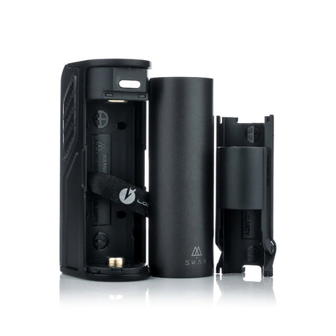 Lost Vape Skar 75W Box Mod, battery bay. The Village Vaporette.