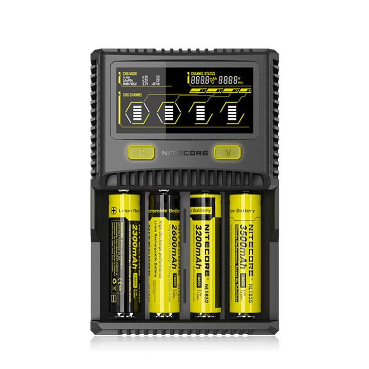 Nitecore SUPERB SC4 LCD Charger. The Village Vaporette.