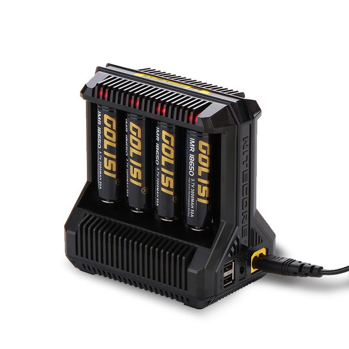 Nitecore i8 Intellicharger 8 slot charger with USB. The Village Vaporette.