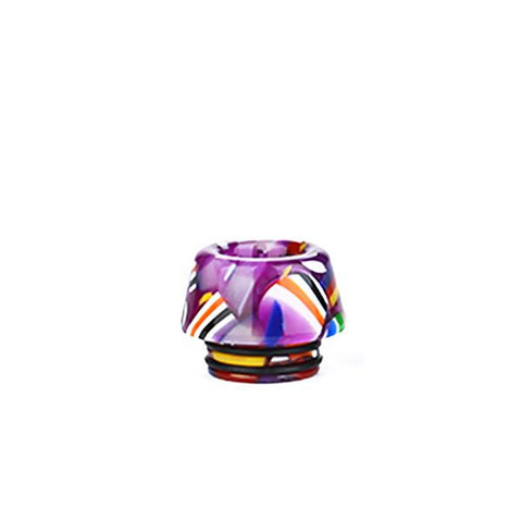 810 Resin National Flag Drip Tip, purple. The Village Vaporette, Cambridge, Ontario, Canada, mouthpiece, mouth piece, sloped drip tip,