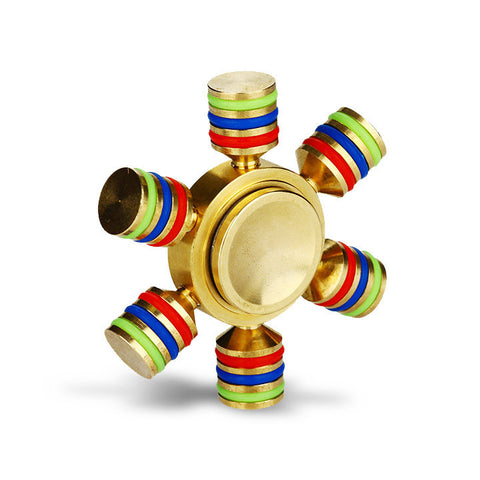 Luminous Hand Spinner with Six Spins