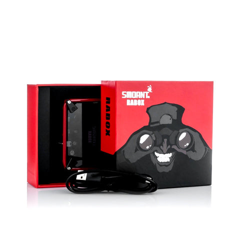 Smoant Rabox 100W Smart Mechanical Box Mod, packaging. The Village Vaporette.