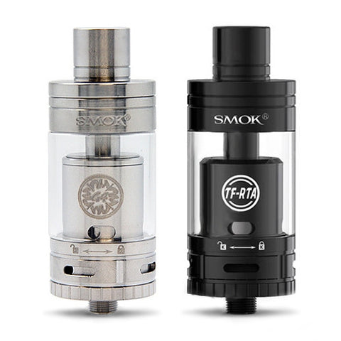 Smok TF-RTA G4 Edition, stainless & black. The Village Vaporette.